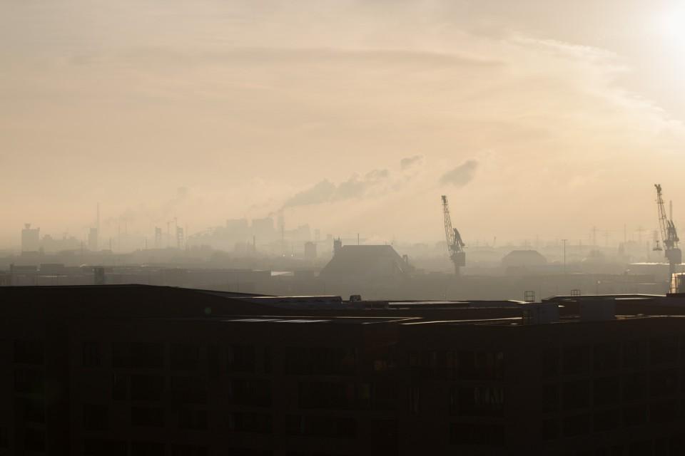 Hamburg im Dunst