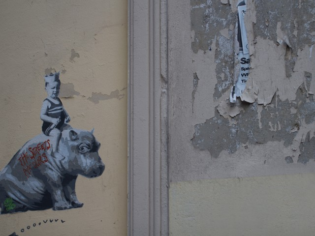 Streetart: Nilpferd