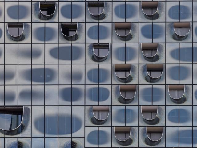 Elbphilharmonie Fassaden Auschnitt