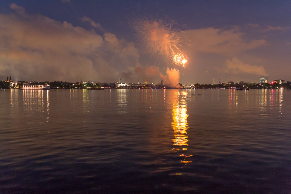 Feuerwerk Aussenalster